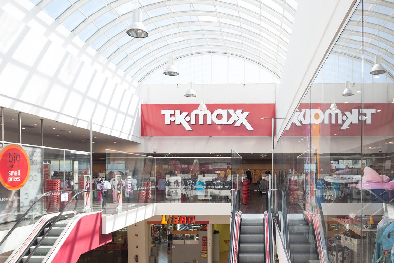TK maxx ganz oben im Stadtmarkt